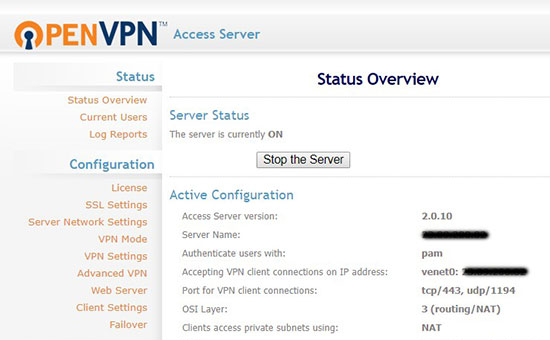 One click install cheap OpenVPN VPS